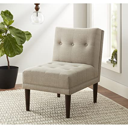 Amazoncom Better Homes And Gardens Isaac Accent Chair Beige Woven