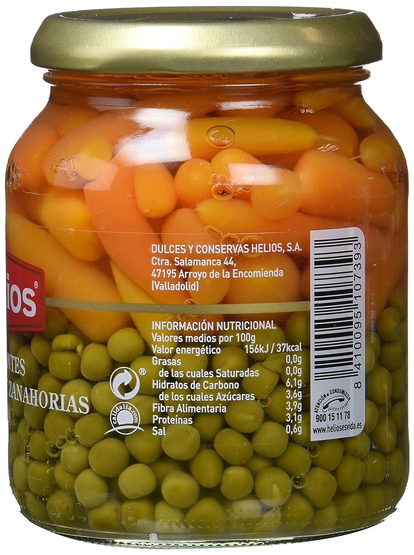 Helios Guisantes Extrafinos y Zanahorias - 340 gr - , Pack de 6: Amazon.es: Alimentación y bebidas