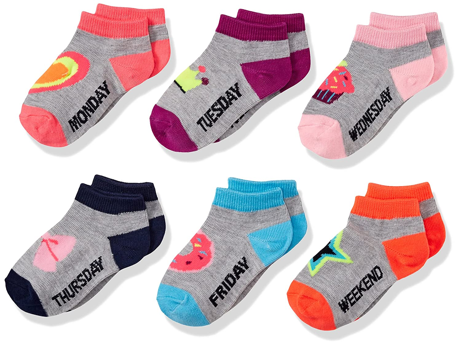 Limited Too girls 6 Pack Girls Low Cut Sock Assorted 9-11 Limited Too Children' s Apparel Child Code LIM68152-459