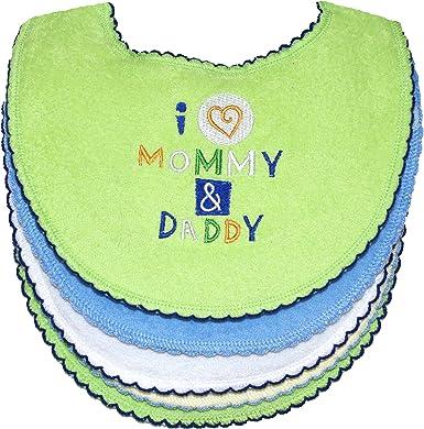 I Love My Dad Boys Girls Baby Feeding Bib Gift One Size Blue