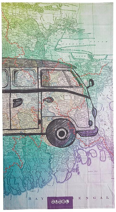 Bubel Trip Toalla Map/Van Verde