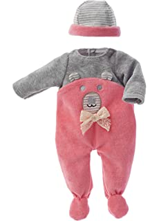 Käthe Kruse 26704 Kleid mit Tiermotiv und Tupfenhose Babypuppen & Zubehör