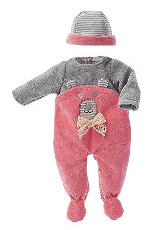 Amazon.es: Käthe Kruse 0136804 Pelele con Oso Bordados Rosa 30 ...