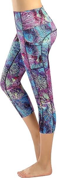 Munvot Womens Yoga Capri Leggings Exercise Workout Pants Gym Tights