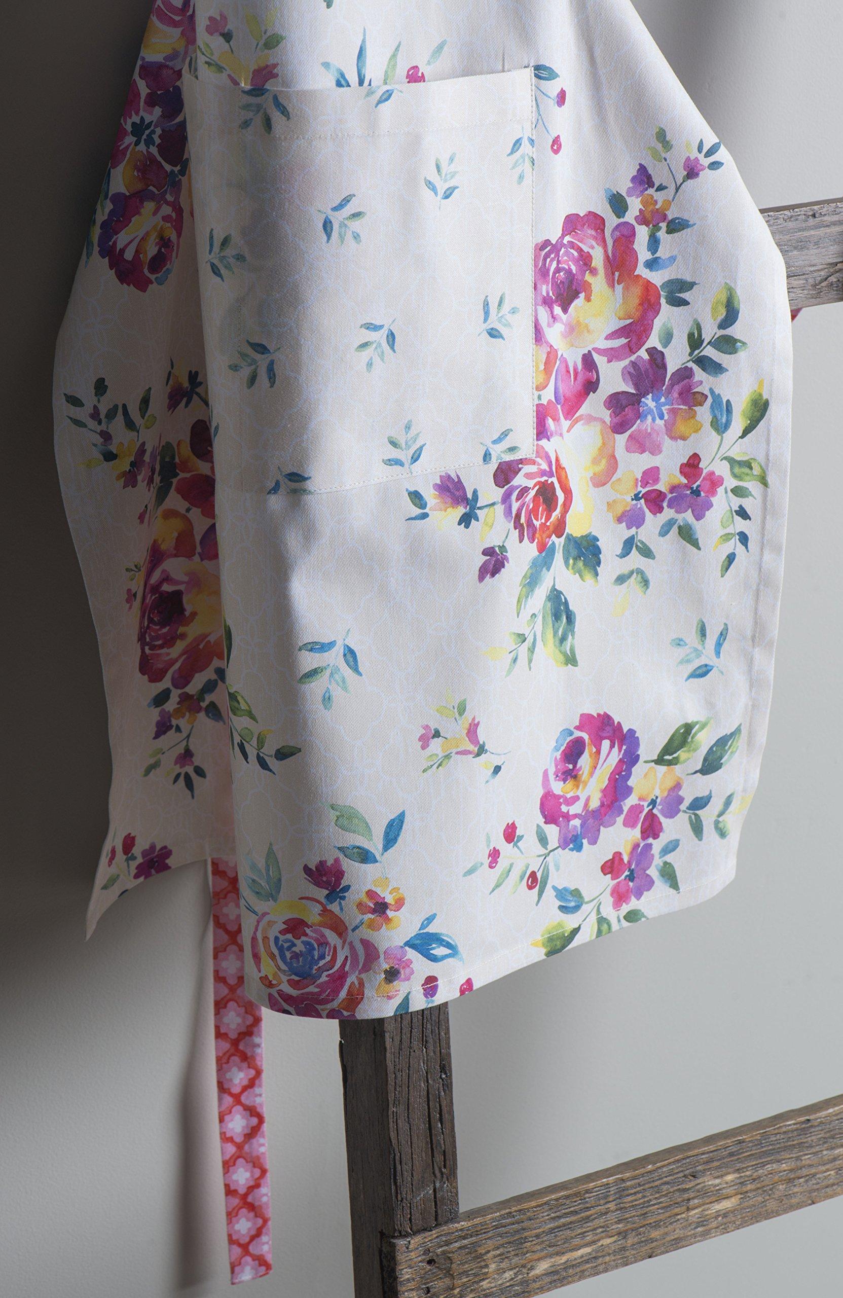 Maison d' Hermine Rose Garden 100% Cotton Apron with an adjustable neck & Visible center pocket 27.50 Inch by 31.50 Inch by Maison d' Hermine (Image #5)
