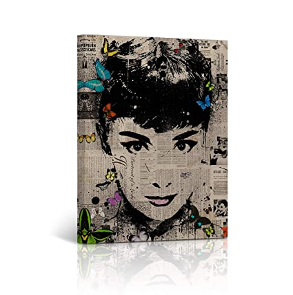 Amazon.com: Buy4Wall Audrey Hepburn Canvas Wall Art Printing ...