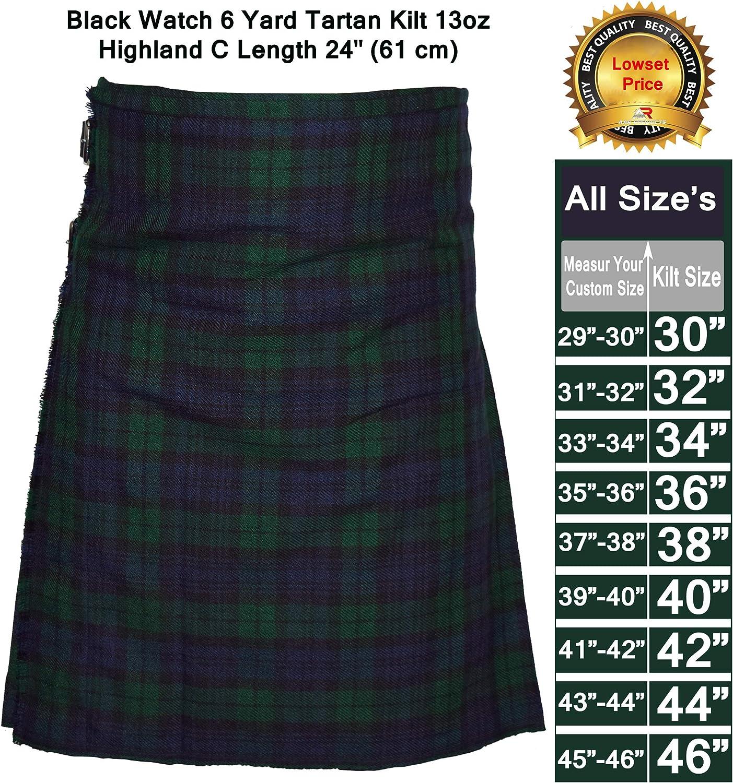 Kilt Traditional Royal Stewart Men/'s 6yard Scottish Tartan Kilts 13oz Highland