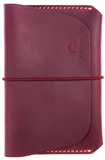 buy popular 5a2e9 4d22b Leather Passport Holder for Men & Women - Genuines Wallet Case for 1 or 2  Passports (Maroon)