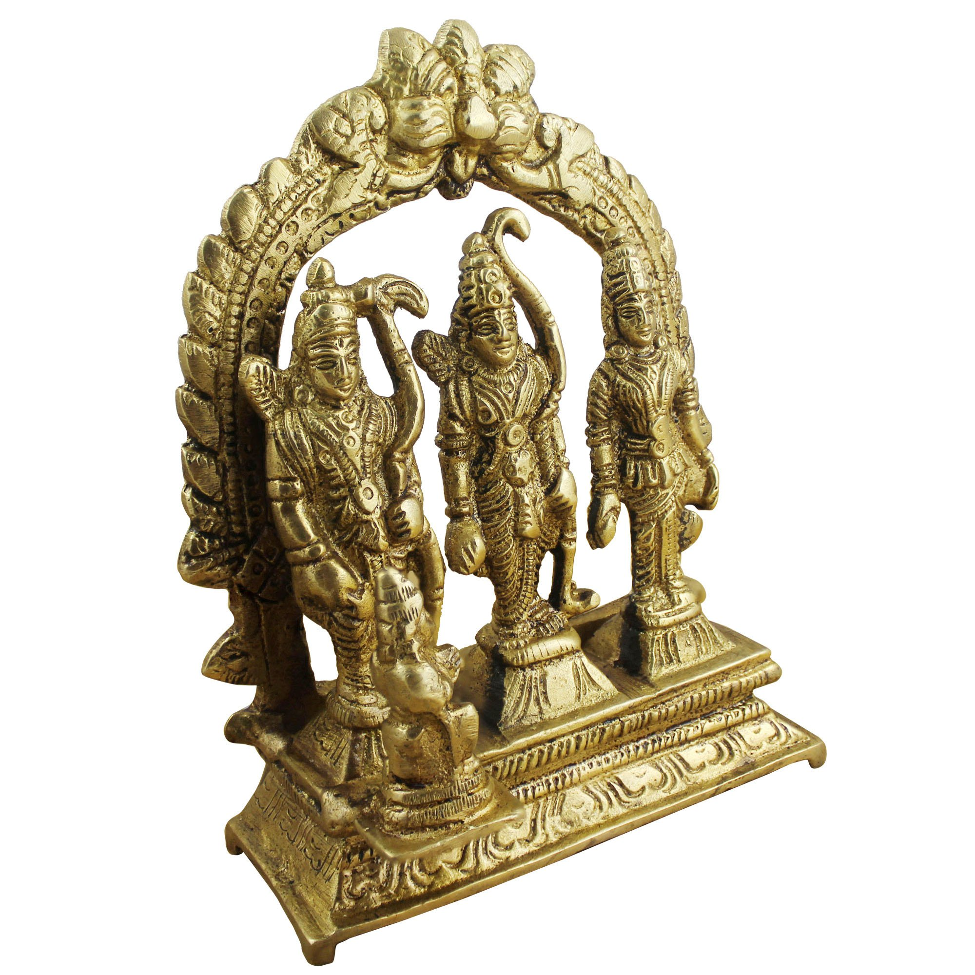 Hindu Gods and Goddesses - Lord Rama Laxman and Sita Religious Indian Art Sculpture - 3.1'' x 3'' x 1'' by RoyaltyLane (Image #2)