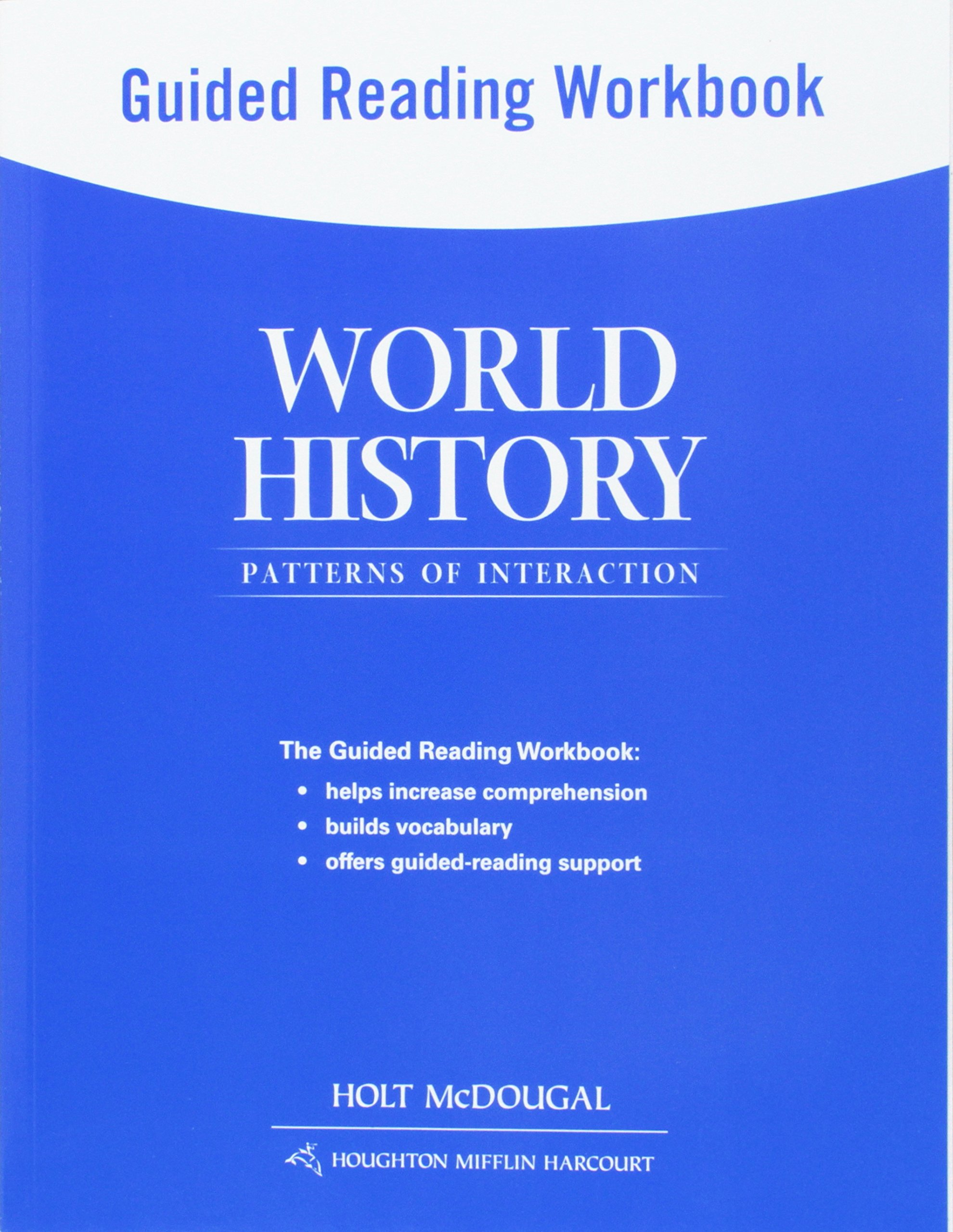 World history patterns of interaction guided reading workbook world history patterns of interaction guided reading workbook survey holt mcdougal 9780547520964 amazon books fandeluxe Choice Image