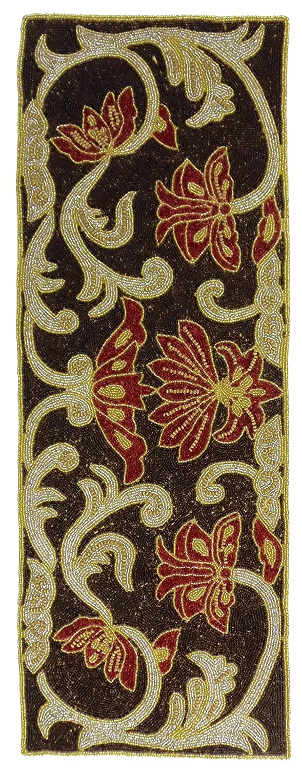 Attractive Amazon.com: Cotton Craft   Lotus Hand Beaded Table Runner   16x54 Inches    Rich Hues Of Chocolate, Gold, Red, U0026 Ivory   Truly One Of A Kind   Hand  Made By ...