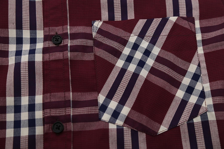 Ogni Modello Ha 6 Taglie Casual NUTEXROL Camicie da Uomo Camicie con Maniche Lunghe Scozzesi Manica Corta comode e Moderne per LEstate Vari Stili