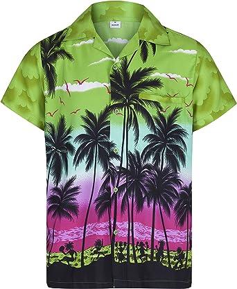 Redstar Fancy Dress - Camisa Hawaiana de Manga Corta - para Hombre - Palmeras - Todas Las Tallas - Verde - 3XL: Amazon.es: Ropa y accesorios