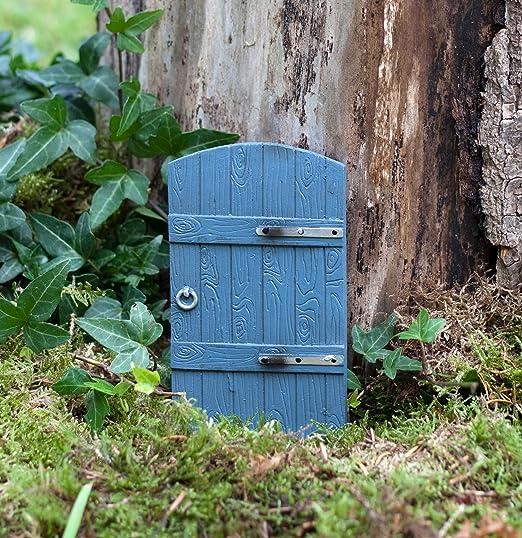 Puerta de hadas jardín gris efecto madera diseño ideal para al aire libre o en interiores: Amazon.es: Jardín