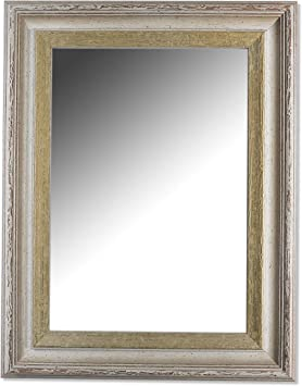 Au/ßenma/ß des Spiegels DIN A1 Barock Trento Schwarz Gold 5,4 59,4 x 84,1 cm /Über 200 Gr/ö/ßen Antik Spiegel Wandspiegel Badspiegel Flurspiegel Garderobenspiegel - Wunschma/ße auf Anfrage