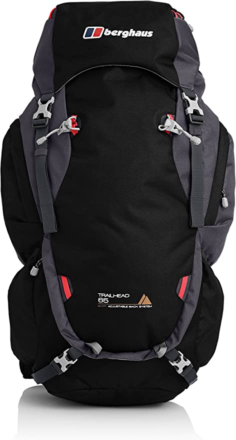Berghaus Trailhead 65 Rucksack Backpack 21585//K05 Extrem Red//Carbon NEW