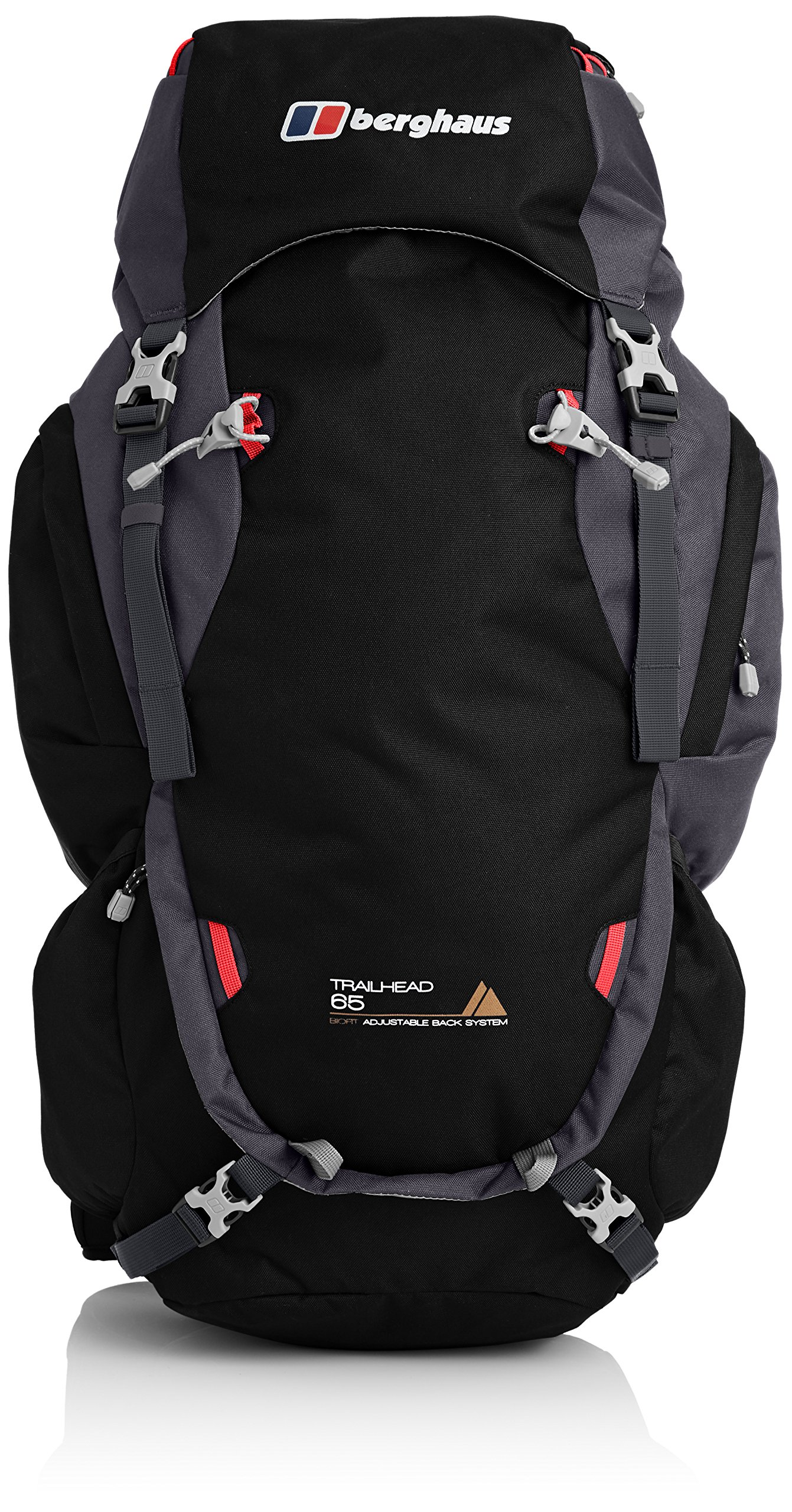 Berghaus Trailhead 65 L Rucksack, Jet Black/Carbon, One Size