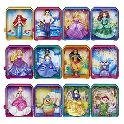 """Disney Princess Royal Stories, Figure Surprise Blind Box with Favorite Disney Characters, Toy for 3 Year Olds & Up, 2"""" Disney Dolls: Toys & Games"""