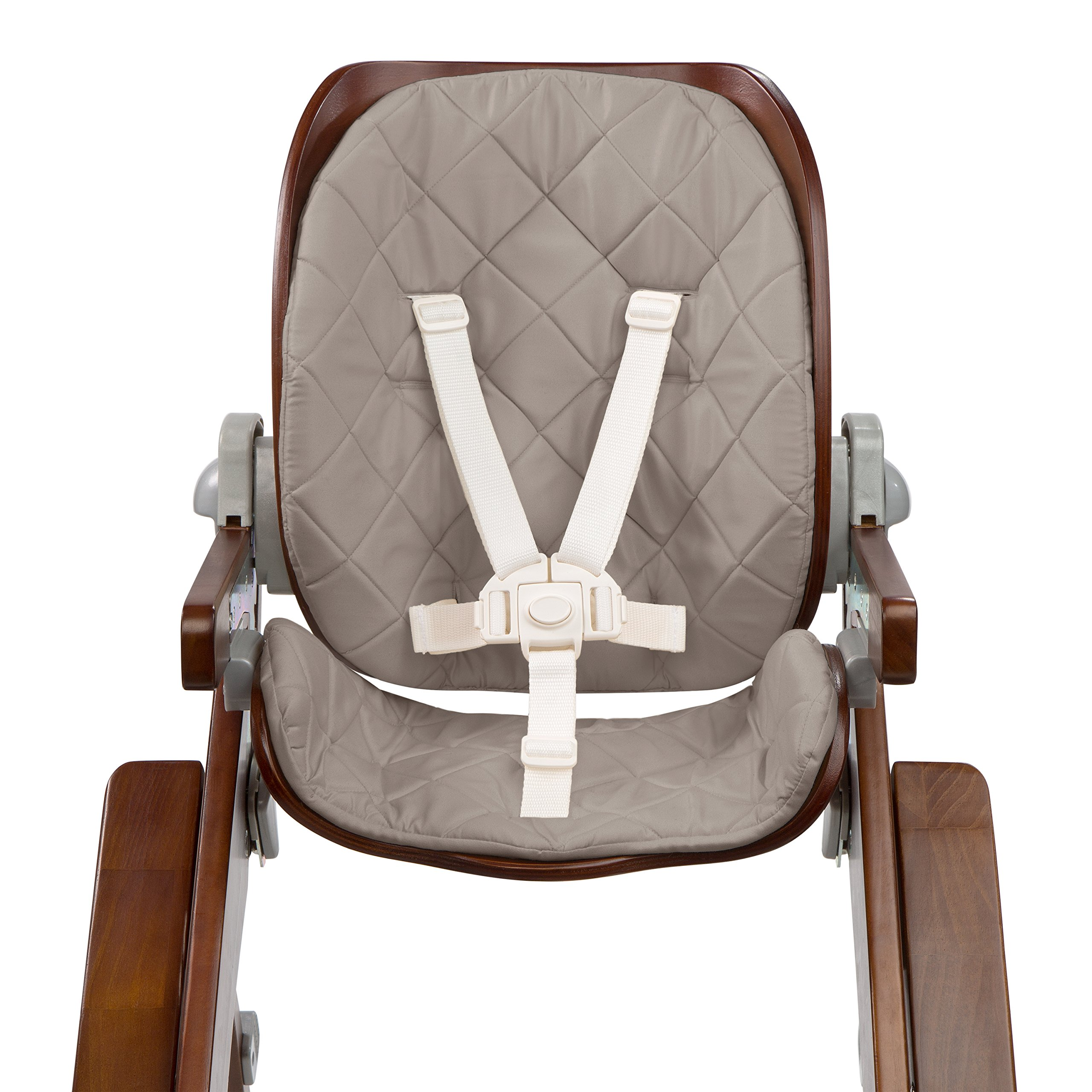 Summer Infant Bentwood Highchair Seat Cushion, Goose Down Gray