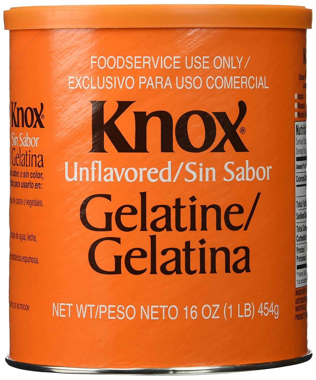 Amazon.com : Knox: Unflavored Gelatine 16 Oz (3 Pack) : Gelatin ...