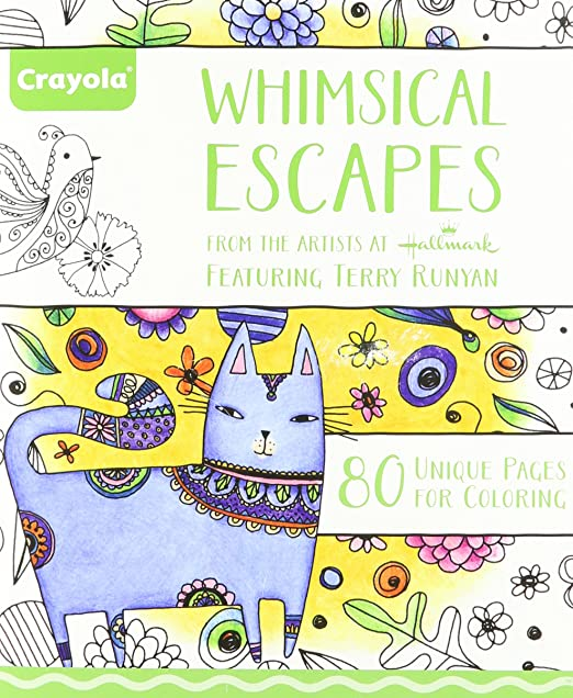 Amazon.com: Crayola Whimsical Escapes, Adult Coloring Book ...