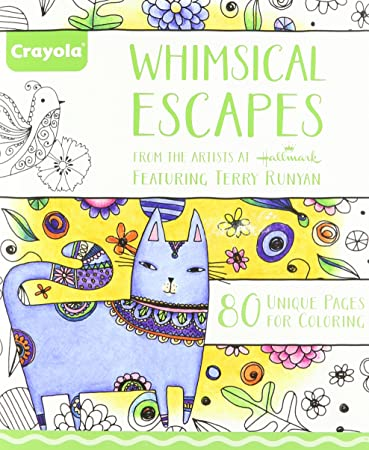 crayola whimsical escapes adult coloring book relaxing art activity perforated pages great for - Amazon Adult Coloring Books