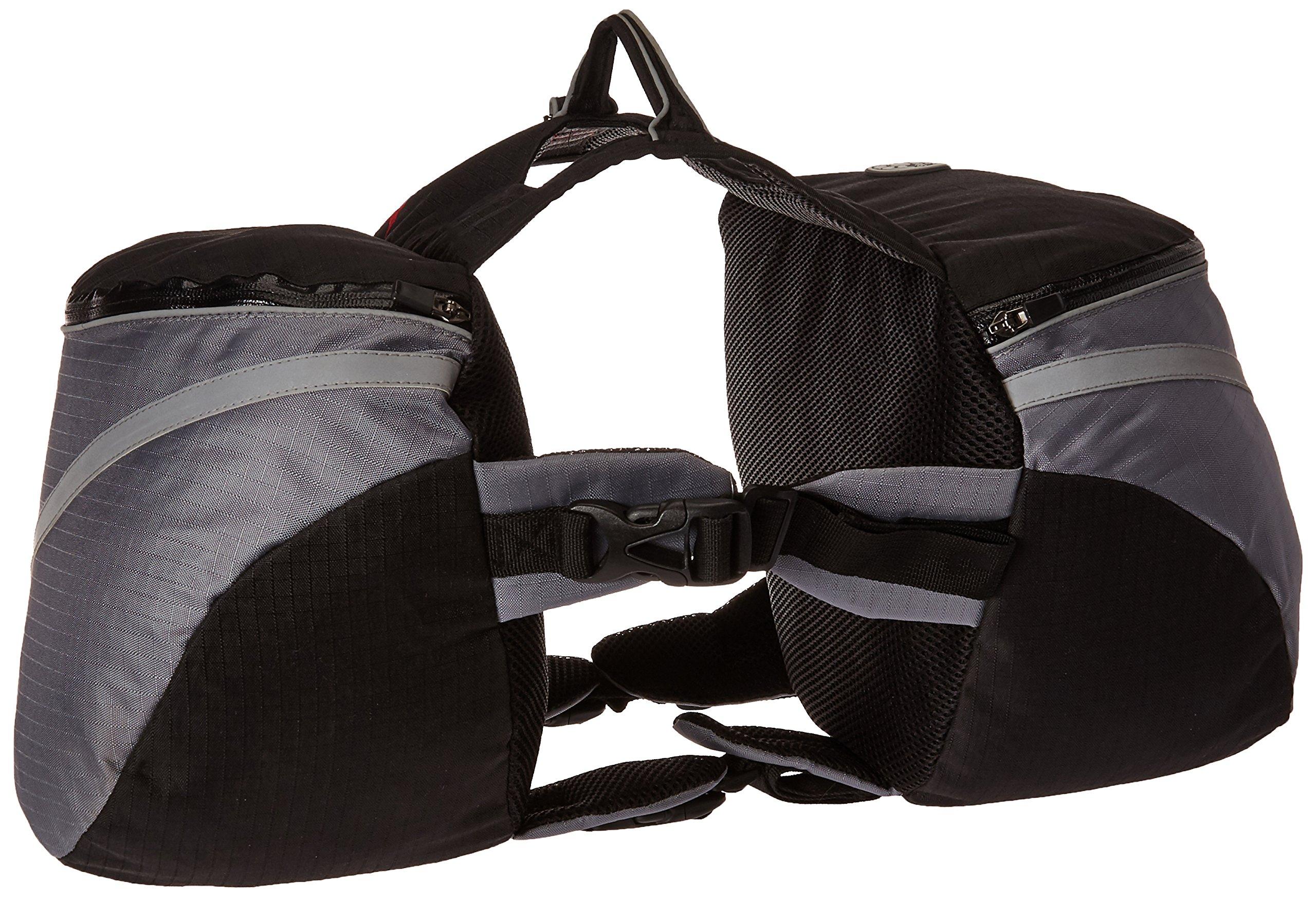 Doggles Dog Backpack, Extreme Medium, Gray/Black