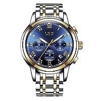 watches, men's waterproof stainless steel chronograph, sport analogue quartz watch, men's luxury brand, fashion, wrist watch, man.