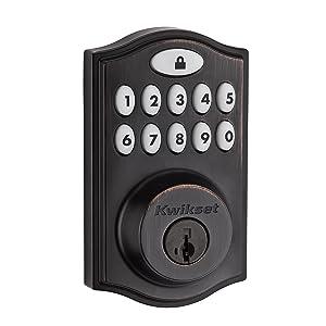 Kwikset 99140-009 Smartcode 914 Zigbee Echo Plus and Xfinity Compatible Touchpad Smart Lock, Works with Alexa, Featuring Smartkey in Venetian Bronze