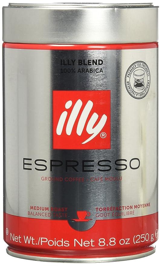 Illy Cafe Medium Roast Fine Grind Espresso Coffee 8.8 oz Harold Import EC10: Amazon.es: Hogar