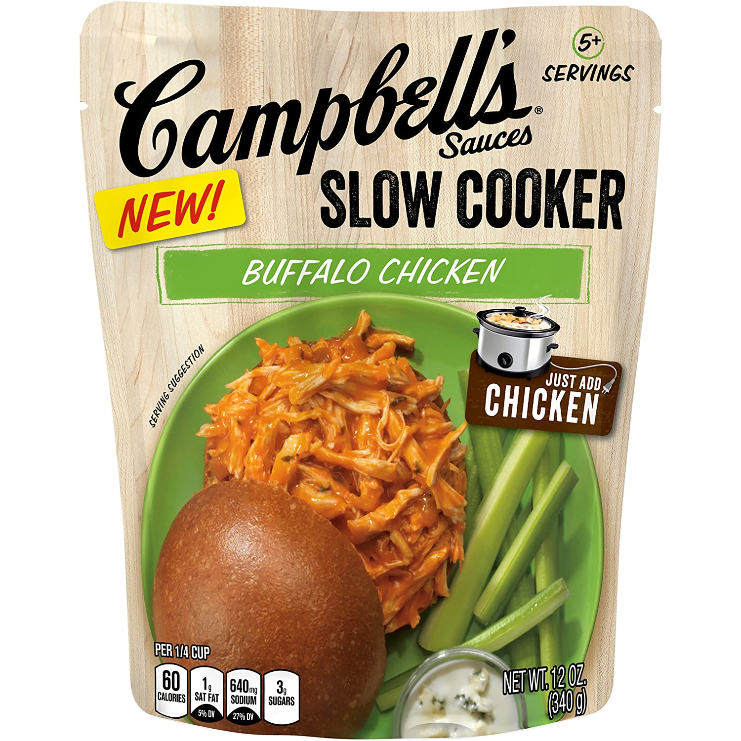 Amazon Campbell s Slow Cooker Sauces Buffalo Chicken 12