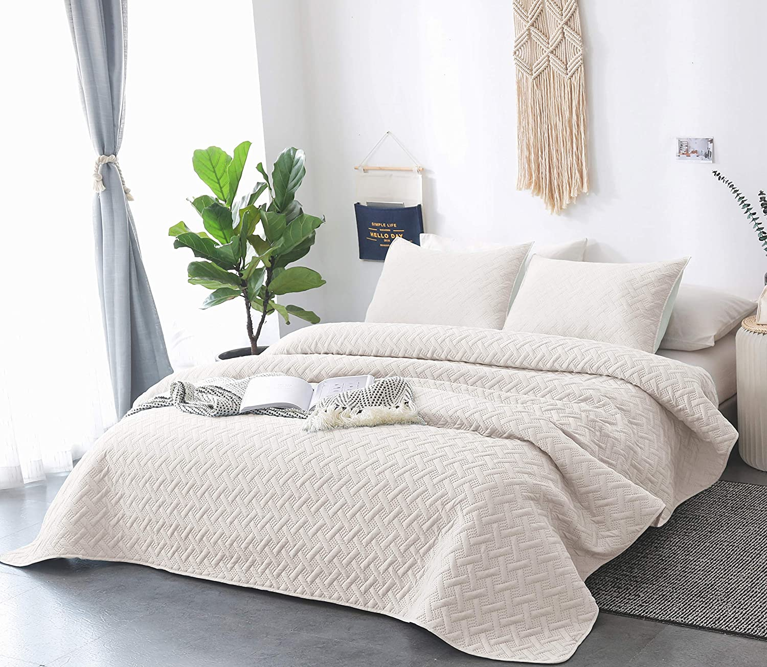 Buy DAWNDIOR Bedding Quilt Sets, Multipurpose As Bedspread and