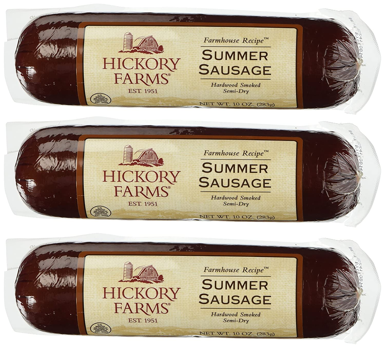 Hickory Farms Hardwood Smoke Sausage 3 Pack