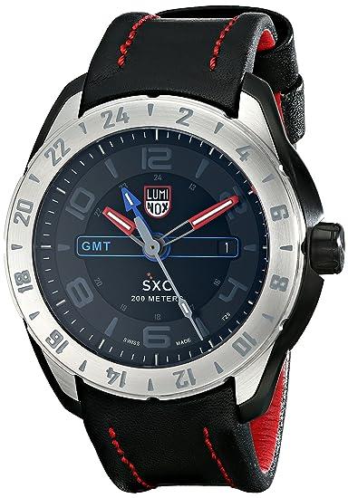 LUMI-NOX 5127 - Reloj para hombres, correa de cuero color negro: Amazon.es: Relojes