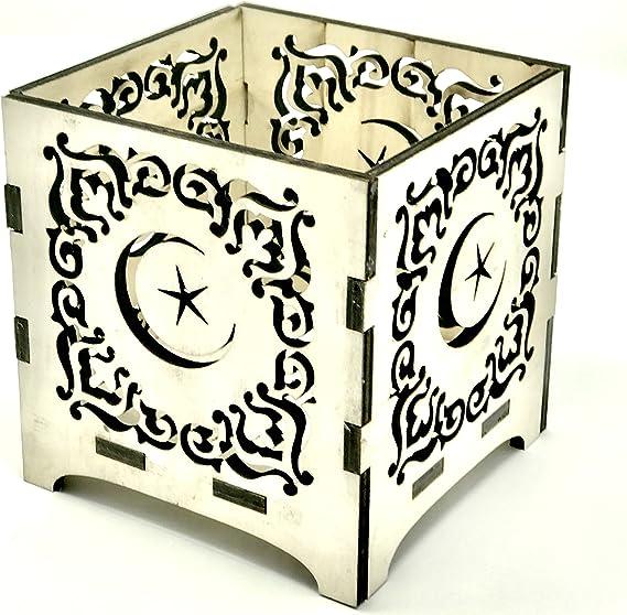 Laser Cut Wooden Wood DIY Crafts Eid Mubarak Ramadan Decoration Wood Ornament