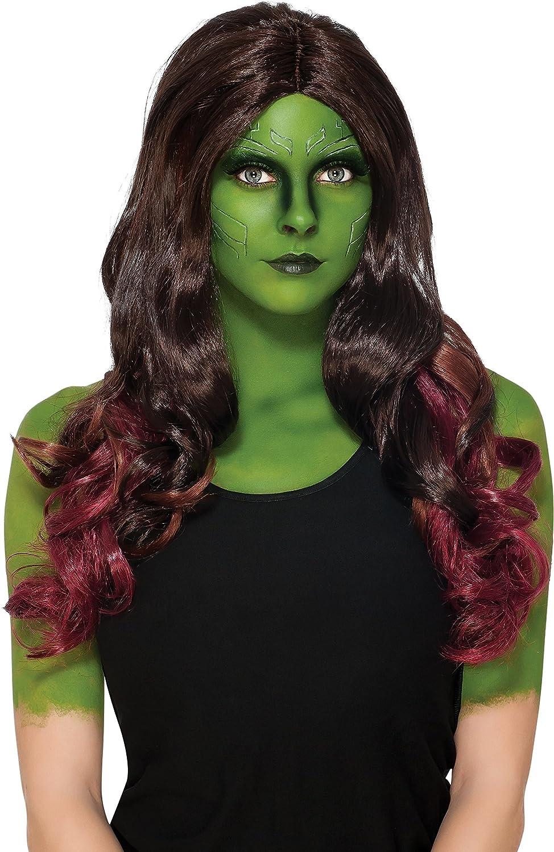 Rubie's Costume Co. Women's Adult Marvel Guardians of the Galaxy Vol. 2 Gamora Wig GOTG Vol. 2 Rubies Costumes - Apparel 34510