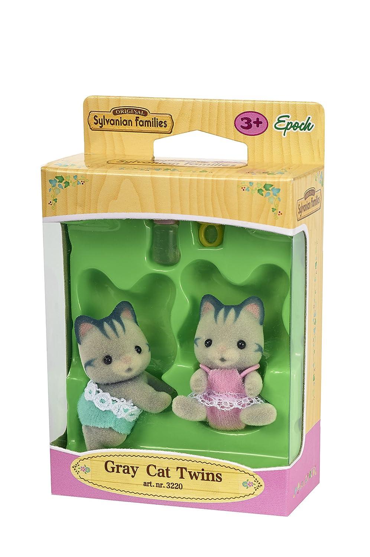 Amazon.es: Sylvanian Families Gatos gemelos, color gris (3220): Juguetes y juegos