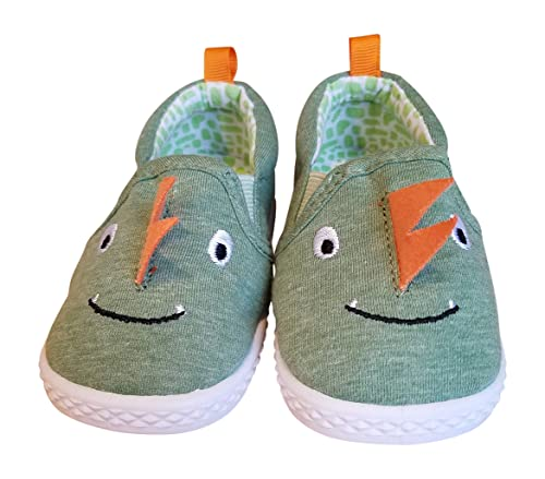 743853f992a Amazon.com | Baby and Toddler Boys Dinosaur Canvas Slip-On Shoes | Shoes