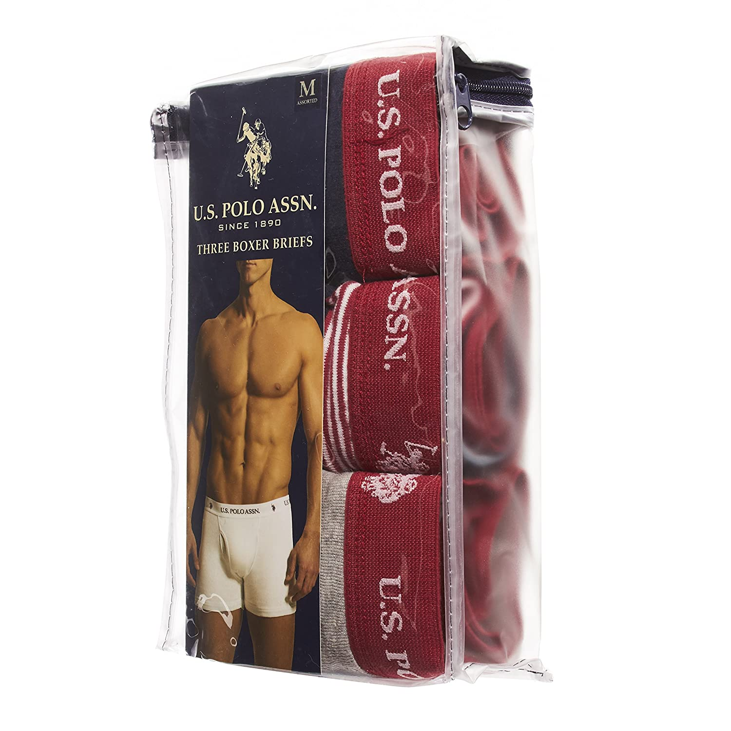 Polo Assn U.S Mens Freedom 3-Pack Boxer Brief