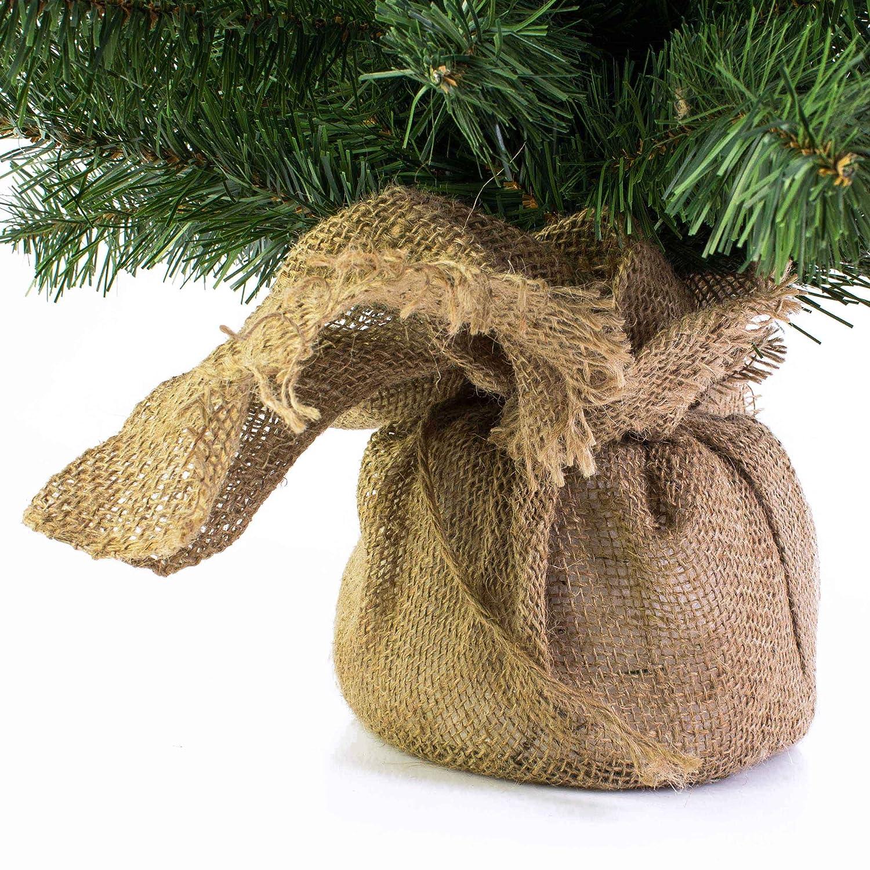 Mini Weihnachtsbaum WARSCHAU, gün, Jutesack, 60 cm, Ø 40 cm ...