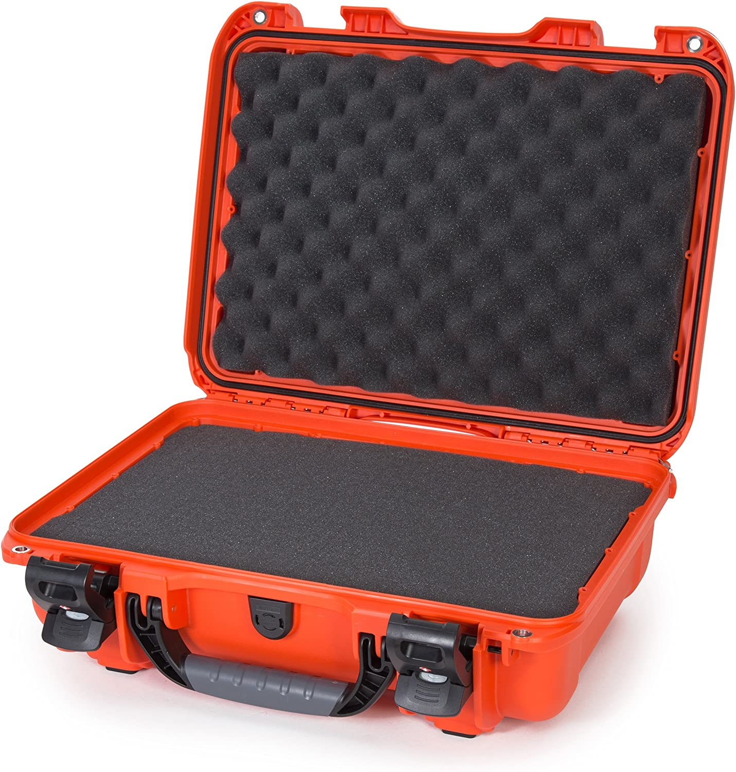 Nanuk 923 Waterproof Hard Case with Foam Insert and Incorporated TSA Approved Travel Lock Latches - Orange (923-1003)