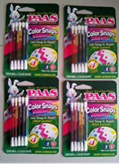 No Mess Easter Egg Coloring Kit PAAS COLOR SNAPS 4 PACK Painting