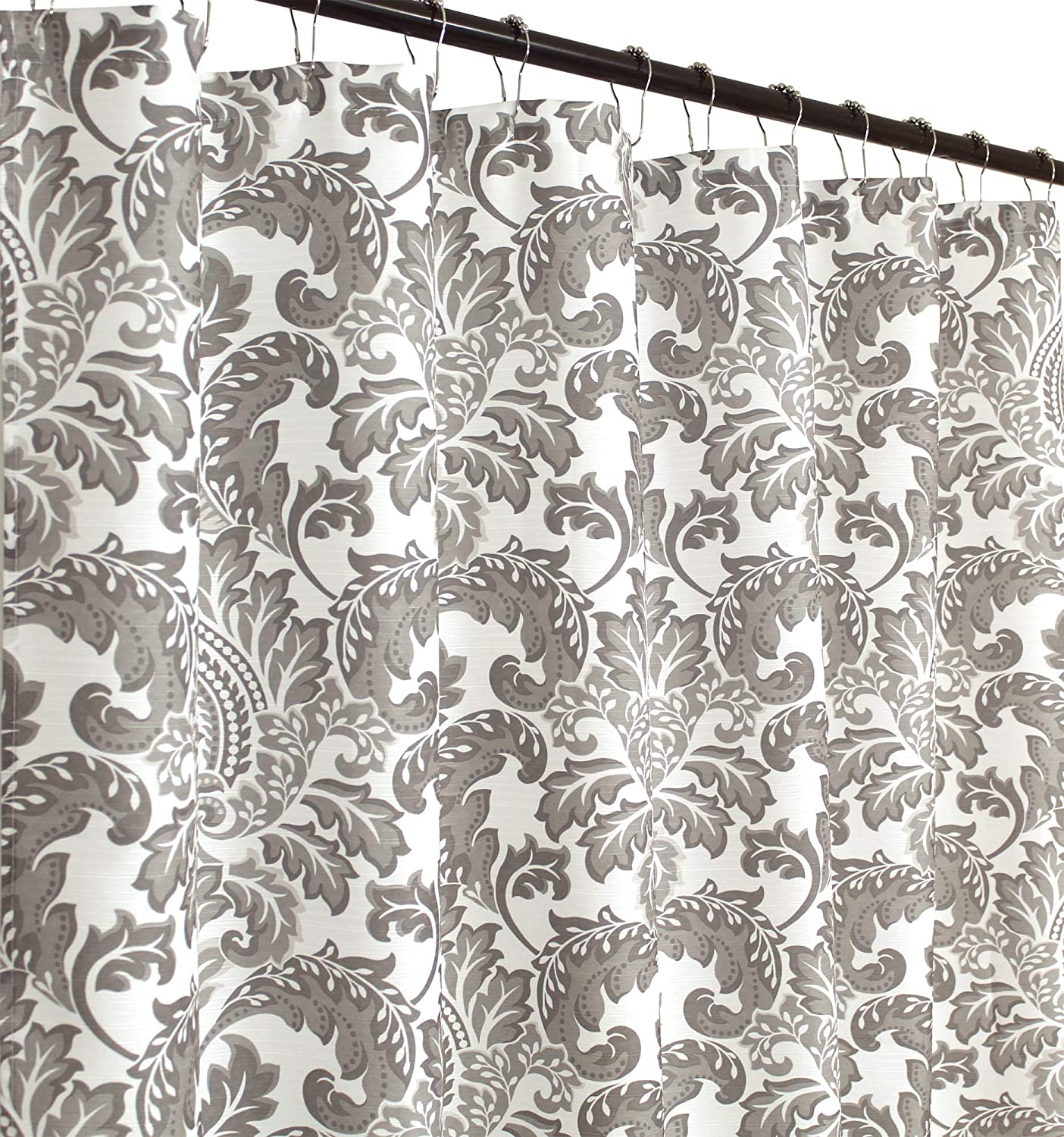 C.H.D Home Damask Fabric Shower Curtain (Zoe)