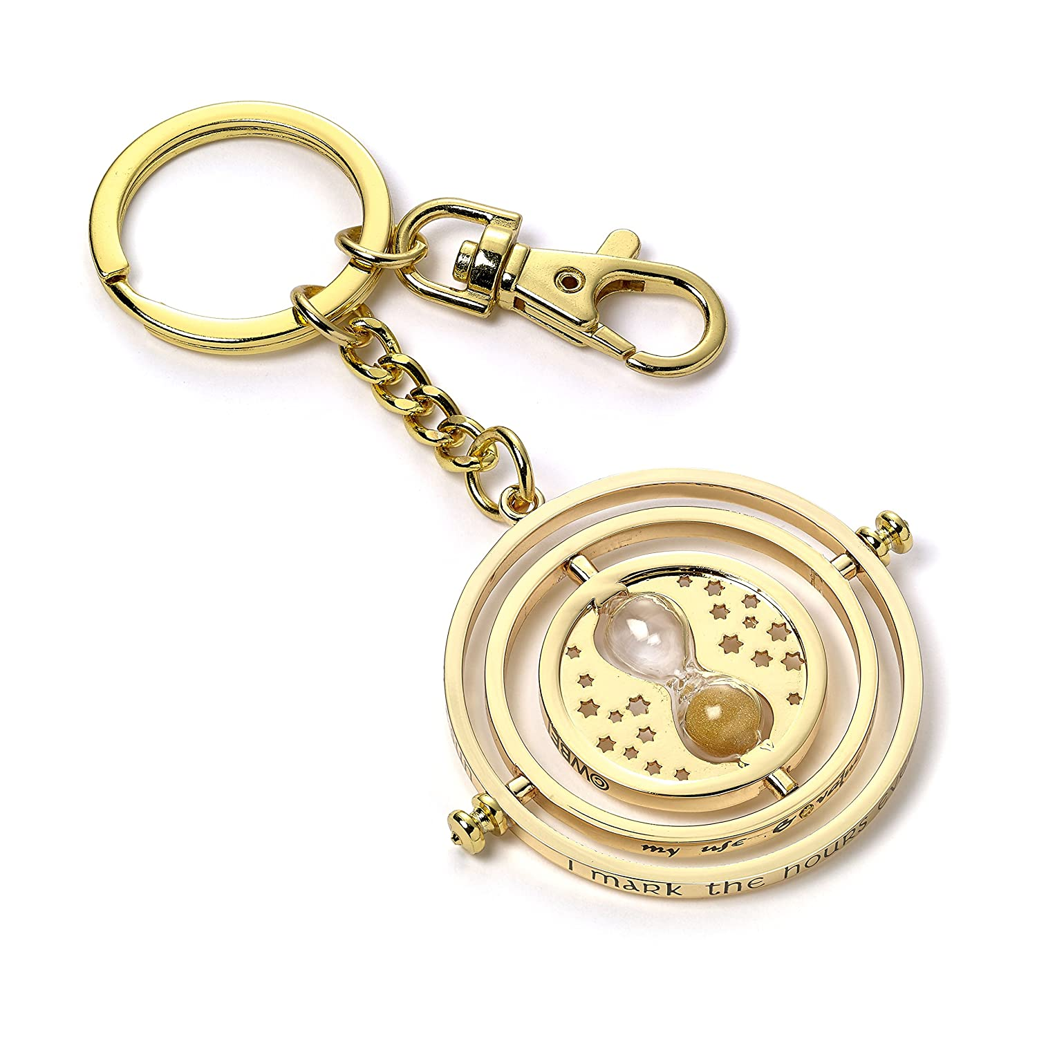 Official Harry Potter Rotating Time Turner Keyring Keychain - Gold Plated KH0097