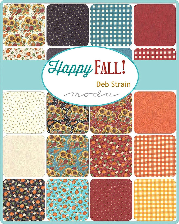 Happy Fall Mini Charm Pack by Deb Strain ; 42-2.5 Inch Precut Fabric Quilt Squares