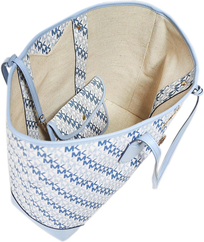 MICHAEL Michael Kors Damen eva große Logo tote Tasche Weiß
