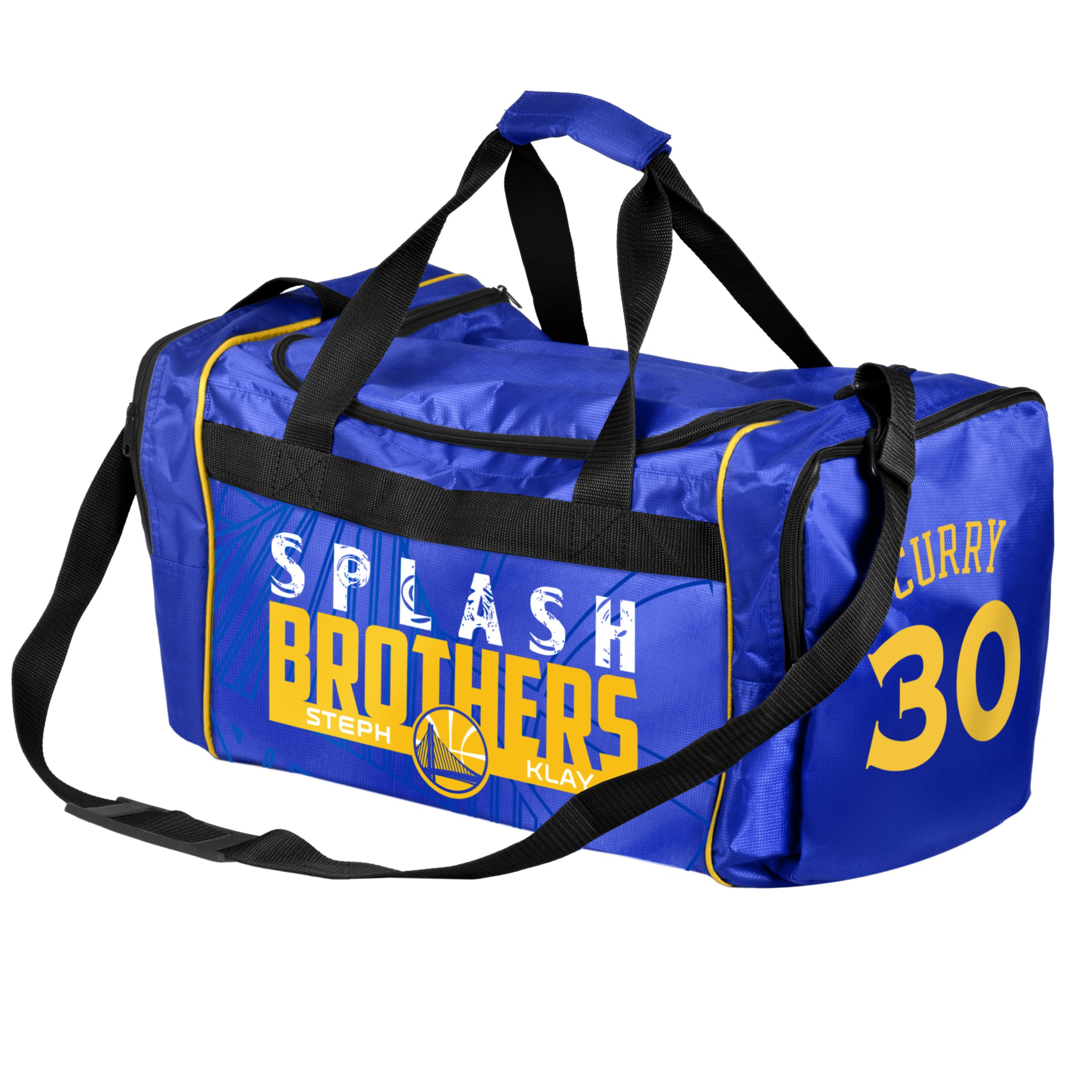FOCO Golden State Warriors Steph Curry #30 and Klay Thompson Splash Brothers Core Duffle