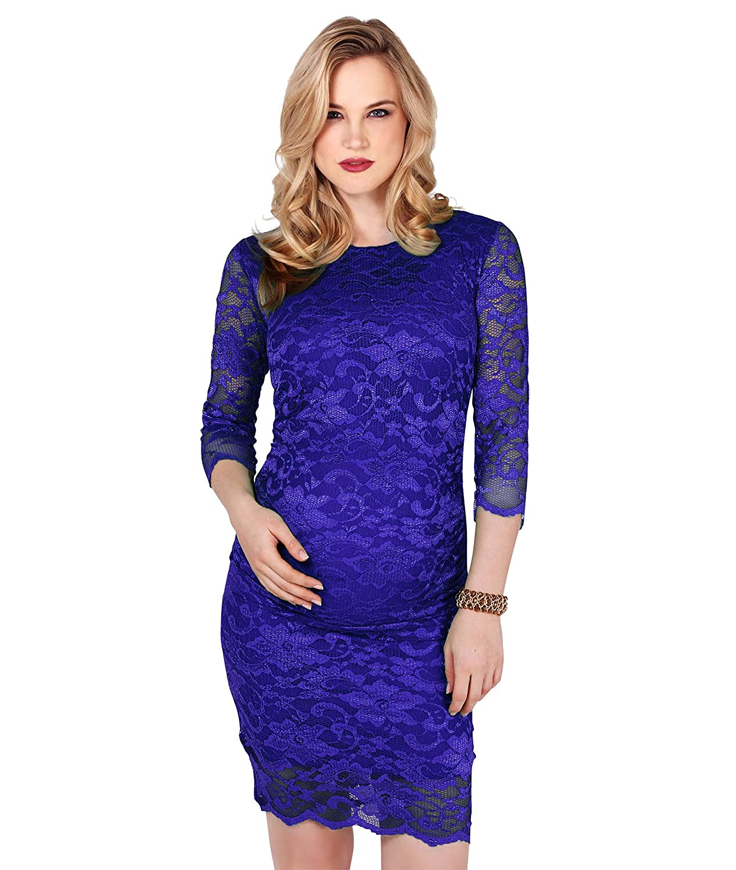 cf83dc755 KRISP Vestido Premamá Fiesta Boda Embarazada Encaje Moderna Otoño 2017