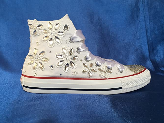 Amazon.com: Wedding Converse Shoes, Bridal Converse, Custom Converse ...