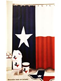 red and black shower curtain set. Texas Flag Lone Star Fabric Shower Curtain Shop Amazon com  Curtains Hooks Liners